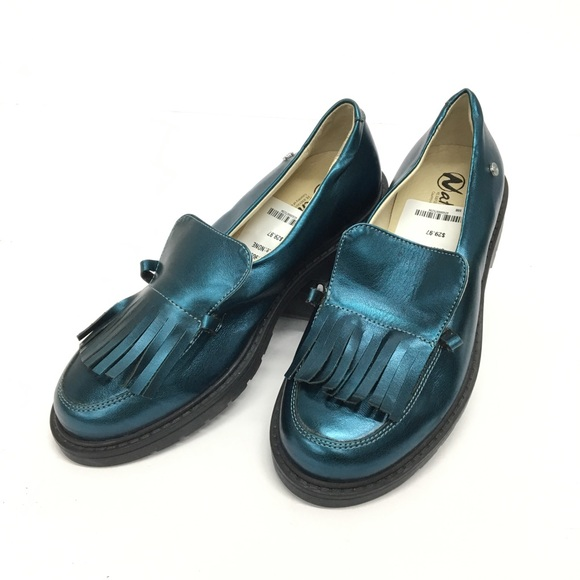 Naturino Shoes - Naturino Blue Metallic Loafer Size 35